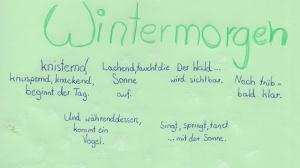 Wintergedichte am Morgen