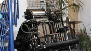 Maschinen in der Druckerei