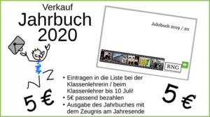 Verkauf der Jahrbuchs 2020